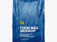 Food Bag Mockup - Front View
