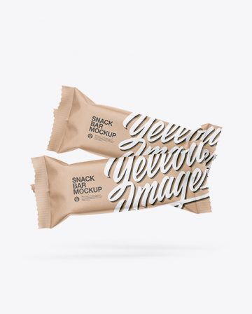 Two Kraft Snack Bars Mockup