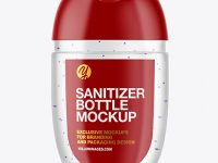 Clear Sanitizer Bottle Mockup