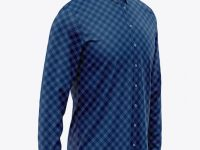 Men's Long Sleeve Button Down Dress Shirt - Front Half Side View