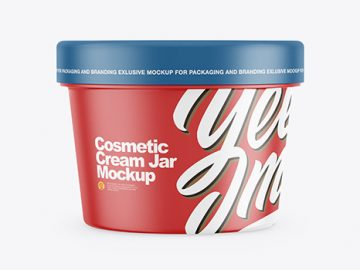 Matte Cosmetic Cream Jar Mockup