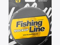 Fishing Line Mockup - Front View