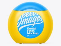 Matte Dental Floss Box Mockup - Front View