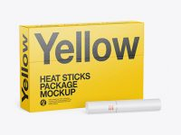 Heat Sticks Package Mockup