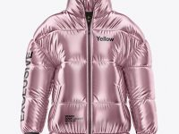 Metalic Women's Down Jacket Mockup