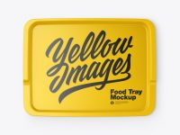 Glossy Food Tray Mockup