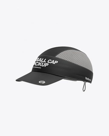 Baseball Cap Mockup / Halfside View