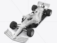Formula-1 2020 Mockup - Half Side View (high-angle shot)