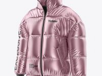 Metallic Women's Down Jacket Mockup