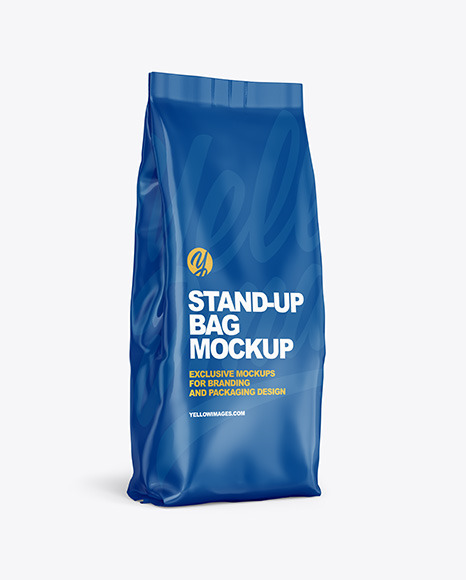 Glossy Stand-up Bag Mockup