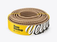 Twisted Sisal Rope Package Mockup - High-Angle View