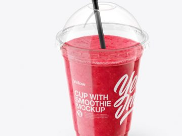Berries Smoothie Cup with Straw