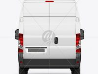 Panel Van Mockup - Back View