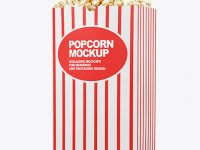 Popcorn Bag Mockup - Half Side View