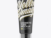 Glossy Cosmetic Tube With Ball Mockup