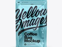 Metallic Coffee Bag with Zipper Mockup