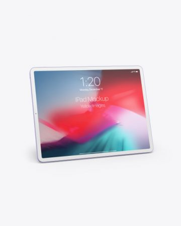 Clay Apple iPad Pro 2018 12.9 Mockup
