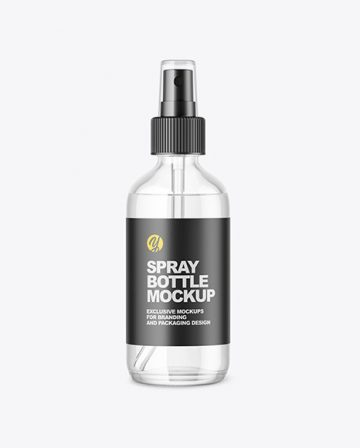 Glass Spray Bottle Mockup