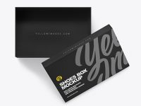 Opened Shoe Box Mockup