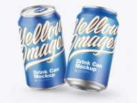 Metallic Cans w/ Matte Finish Mockup
