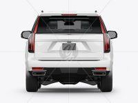 Luxury SUV Mockup - Back View