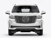 Luxury SUV Mockup - Front View