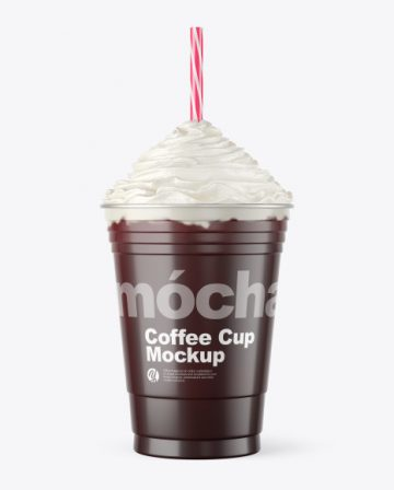 Coffee Cup Topped with Whipped Cream