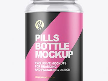 Empty Pills Bottle Mockup