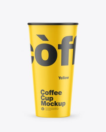 Opened Matte 0.5L Coffee Cup Mockup