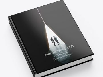 Hardcover Book w/ Glossy Cover Mockup