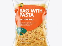 Plastic Bag With Farfalle Pasta Mockup