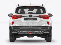 Crossover SUV Mockup - Back View
