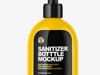 Matte Sanitizer Bottle Mockup