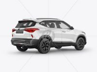 Crossover SUV Mockup - Back Half Side View