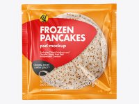 Plastic Bag With Frozen Pancakes Mockup