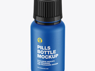Ceramic Pills Bottle Mockup