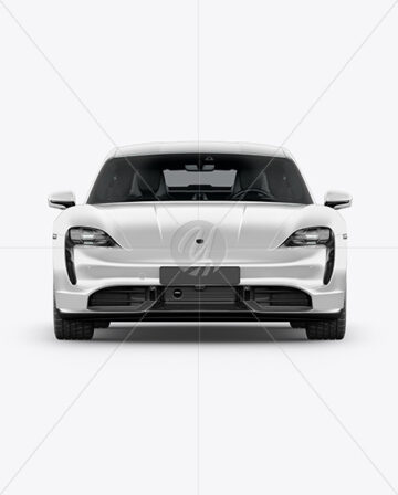 Electric Sport Car Mockup - Front View