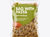 Whole Wheat Farfalle Pasta Bag Mockup