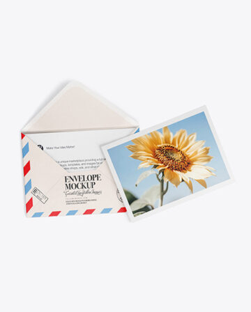 A5 Envelope and Two Cards Mockup