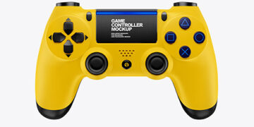 Game Controller Mockup - Front View