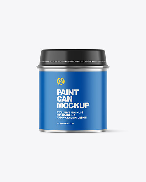 Metallic Paint Can Mockup