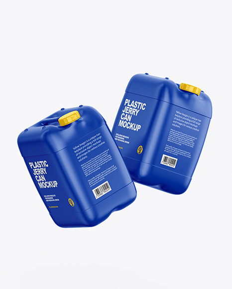 Two Plastic Jerry Cans Mockup