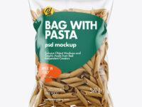 Whole Wheat Penne Pasta Bag Mockup