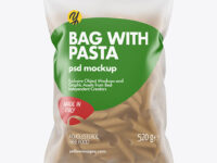 Whole Wheat Penne Pasta Frosted Bag Mockup