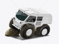 Amphibious ATV Mockup - Half Side View