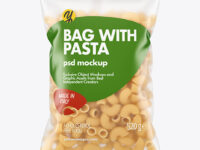 Matte Plastic Bag With Pipe Rigate Pasta Mockup