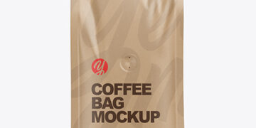 Kraft Coffee Bag Mockup - Front View