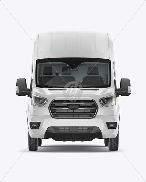 HQ Panel Van Mockup - Front View