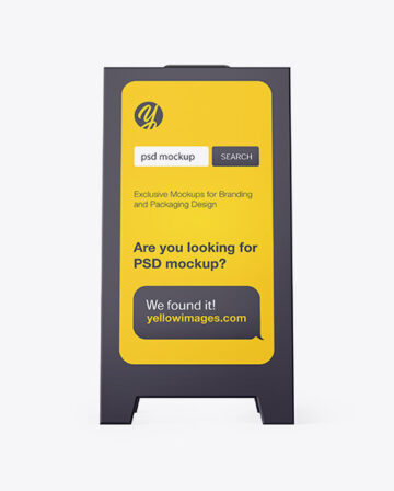 Pavement Sign Outdoor Advertising -  Front View
