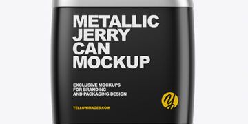 Metallic Jerry Can Mockup